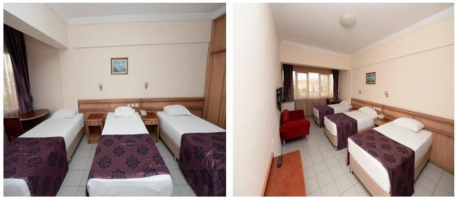 ek bina 3 yataklı oda